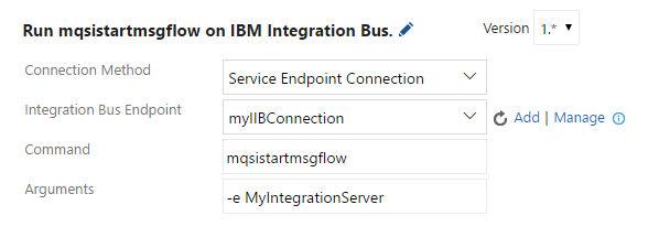 IBM Integration Bus Command Task Details