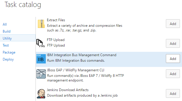 IBM Integration Bus Command Task