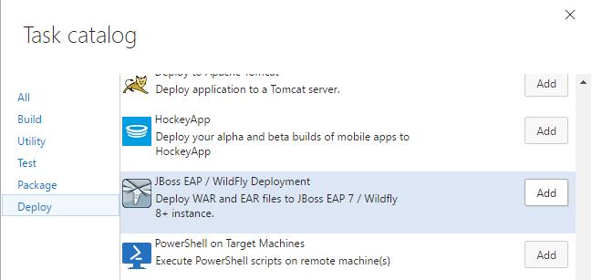 WildFly/Deployment task