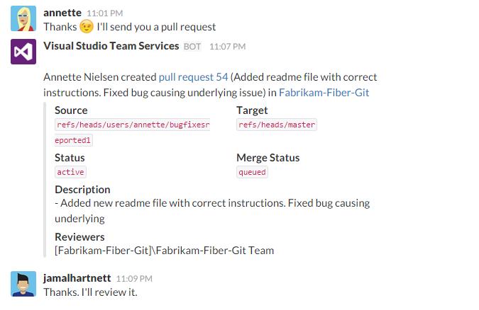 Slack Integration - Visual Studio Marketplace